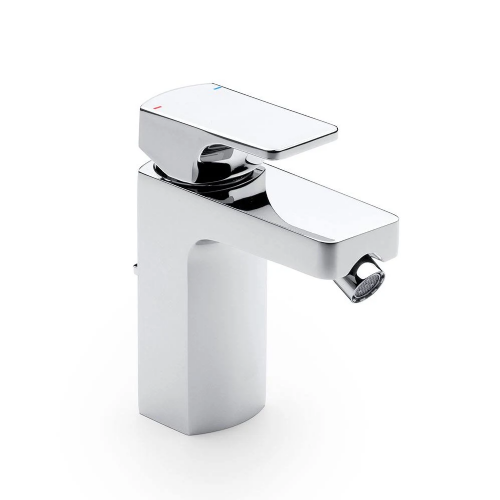 Roca L90 Top Handle Bidet Mixer Tap With Pop Up Waste